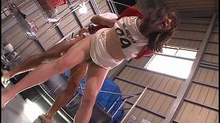 股間ムキ出し拘束で抵抗できず恥ずかし過ぎる打ち上げ失禁!!!尿意を我慢し続けながら何回もイカサれた女たち_キャプチャ画像