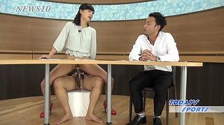 こんなニュース番組あったら録画してでも観たい!?女子アナがテレビでハメ潮しまくる非日常世界。_キャプチャ画像