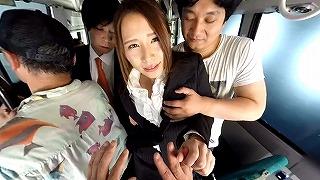 【VR】集団バス痴漢セックスVR~OL・女子校生編~ 佳苗るか 花咲いあん_キャプチャ画像
